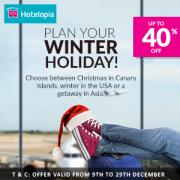 Up to 40% off Winter Holidays
